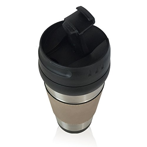 Travel Mug - Chef Hat - Personalized Engraving Included (Light Brown)