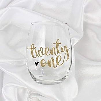 21st Birthday Gift For Women 21oz Stemless Wine Glass 7