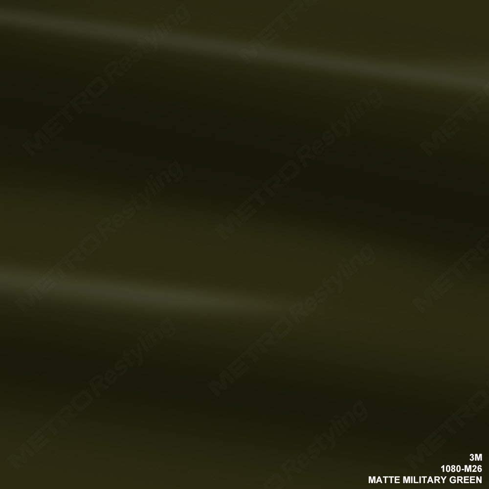 3M 1080 M26 MATTE MILITARY GREEN 5ft x 1ft (5 sq/ft) Car Wrap Vinyl Film