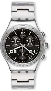 Swatch YCS564G - Reloj analógico de cuarzo para hombre con correa de acero inoxidable, color plateado