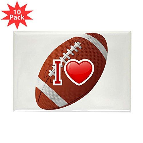 Rectangle Magnet (10 Pack) I Love Football