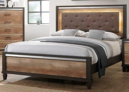 GTU Furniture Striking Two Tone Wooden 5Pc King Bedroom Set(K/D/M/N/C)