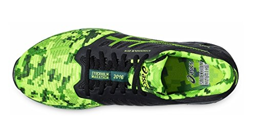 Asics FuzeX Mens Trainers, T61VQ 9085, Black/Green Gekko/Amazon, UK 10.5/EU 46