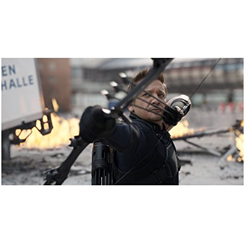 Captain America: Civil War Jeremy Renner as Hawkeye Drawing Bow with Multiple Targets 8 x 10 inch - Target Downey
