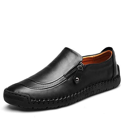 in 44 pelle Nero dimensioni casuali gli Scarpe a EU mano comodi grandi uomini ZHRUI di guida fatte Dimensione vera Colore di per Nero mocassini qzgpwwBx