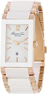 Kenneth Cole KC4741 - Reloj analógico de cuarzo para mujer con correa de acero inoxidable, color blanco