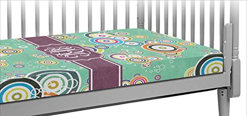 - Colored Circles Crib Fitted Sheet (Personalized)