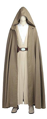 Mtxc Men's Star Wars: The Last Jedi Cosplay Luke Skywalker Full Set Size XX-Large Brown