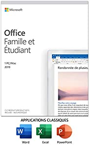 Microsoft Office Home & Student 2019 | French | 1 Device | PC/Mac Key