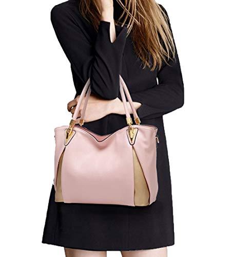 Bolsos Estados Zm La Lichi Europa Color Nueva Unidos Moda Patrón Costura Bandolera Pink De Contraste Y q47wrXx4an