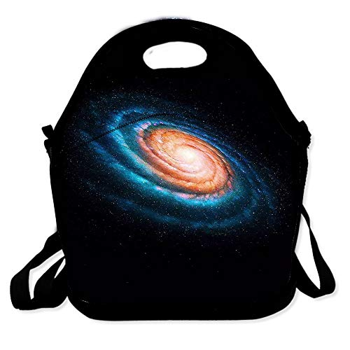 Lunch Bag for Boys Girls Kids Women Insulated Thick Lunch Tote Bags with Shoulder Strap Lunchbox Handbag Food Bento Boxes Container for Work School-Space Whirlpool Galaxy Nebula