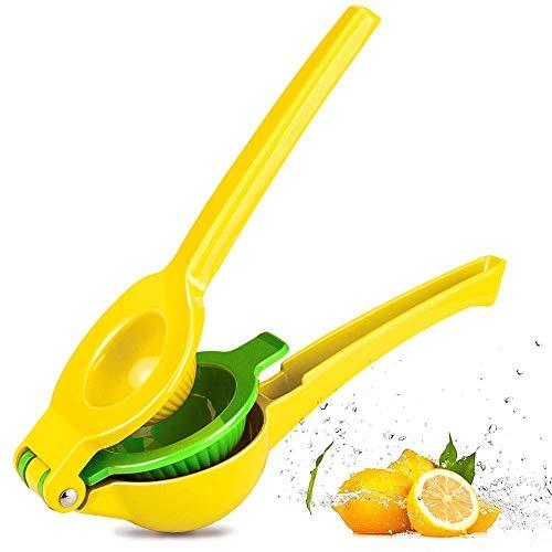 (Chefbar Top Rated Premium Quality Metal Lemon Lime Squeezer - Manual Citrus Press Juicer FreshForce Citrus Juicer Aluminum Lime Squeezer Yellow)