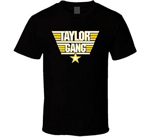 JDhfrk Taylor Gang Black and Yellow Hip Hop Logo T Shirt by JDhfrk