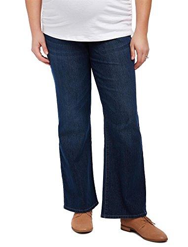 Stylish Plus Size Jeans - Motherhood Plus Size Petite Secret Fit Belly Boot Cut Maternity Jeans