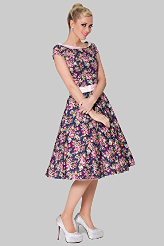 SEXYHER Ladies 1950's Vintage Style Delicate Scoop Neck Classic Dress Photo #2