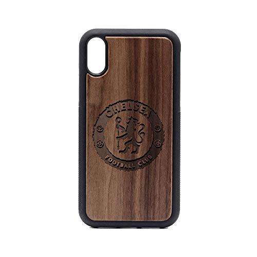 Premier League FC Chelsea - iPhone XR Case - Walnut Premium Slim & Lightweight Traveler Wooden Protective Phone Case - Unique, Stylish & Eco-Friendly - Designed for iPhone XR