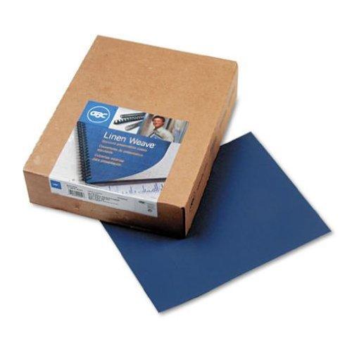 Corner Cover Square Presentation (GBC Linen Weave Standard Presentation Covers, Non-Window, Square Corners, Navy, 200 Pieces Per Box (9742450) by GBC)