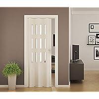 Vouwdeur van PVC Luciana wit gesatineerd glas 88,5 x 214