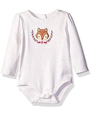 Baby Girls' Squirrel Face Bodysuit