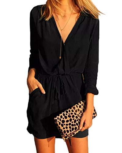 Plus Size Dress Up - YOINS Women Playsuit Rompers Sexy V-Neck