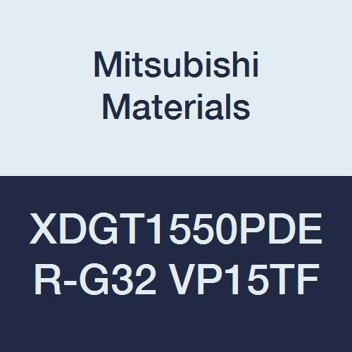 Class G Grade VP15TF Mitsubishi Materials XDGT1550PDER-G32 VP15TF Coated Carbide Milling Insert Pack of 10 0.125 Corner Radius Special Design 0.197 Thick Round Honing