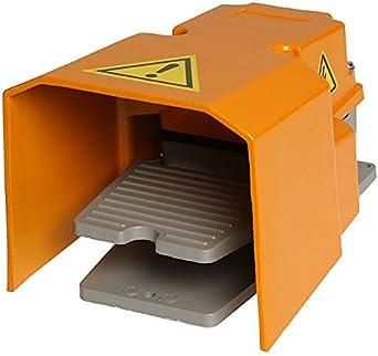 Fußpedalschalter 250V 10A Fußschalter mit Schutzhaube Trittschalter Fernschalter