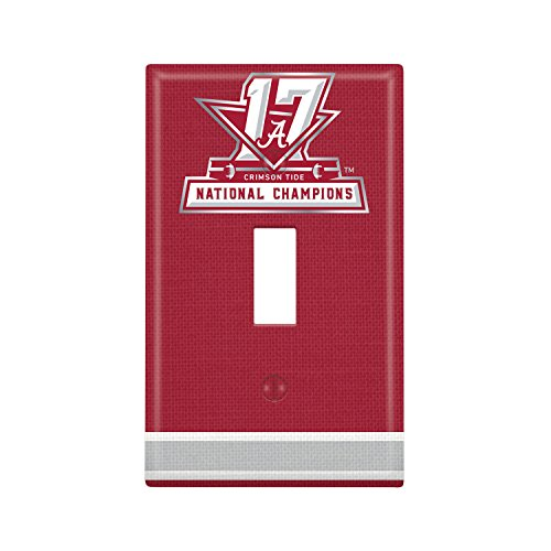 Alabama Light Switch Cover (Alabama Crimson Tide 2017 National Champions Single Toggle Light Switch Cover NCAA)