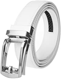 Men's Leather Automatic Buckle Ratchet Dress Belt for Men Perfect Fit Waist Size Up To 46'', Functional, Stylish...