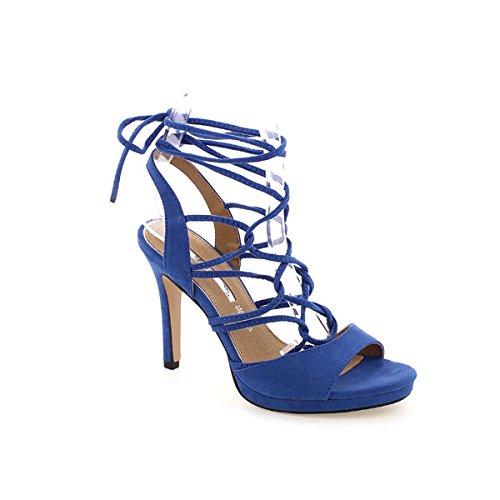 Suédé Maria 66329 Femme Bleu Brogues Mare 440wqxXf