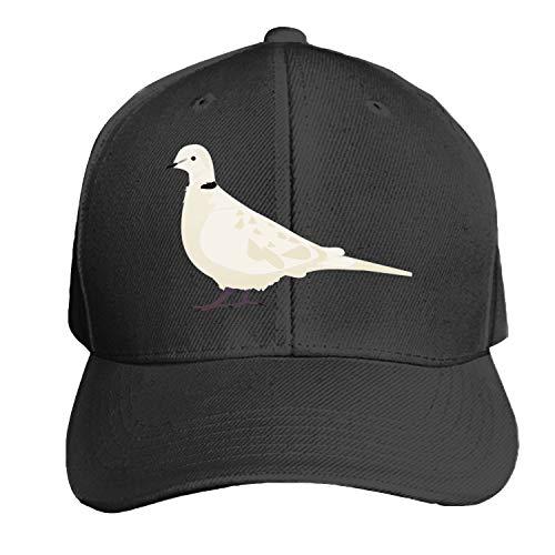 Peaked hat Bird Turtledove Printed Sandwich Baseball Cap for Unisex Adjustable Hat