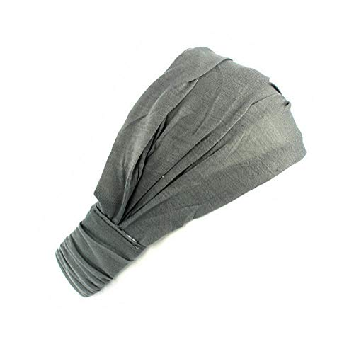 Ladies cotton Hairband Head Band Headband Wrap Neck Head Scarf Cap (Color - grey)