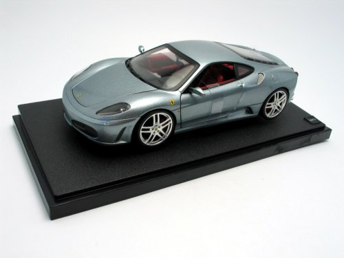 F430 Ferrari Diecast (2006 Ferrari F430 diecast model car 1:18 scale diecast by Hot Wheels - Metallic Grey H3069)