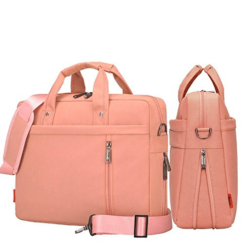 Ad Double Air Cushion Protection 17 Inch Laptop Shoulder Bag Pink