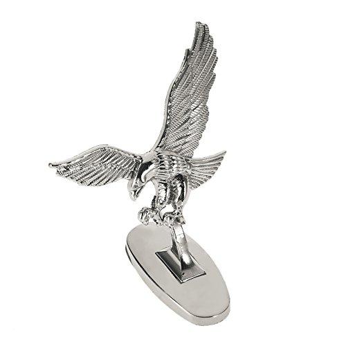 BEESCLOVER 3D Emblem Car Logo Front Hood Ornament Car Cover Chrome Eagle Badge for Auto Car