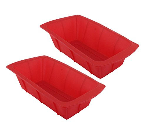 GIFTCO 8 x 4 Silicone Loaf Pan 7139 - 2-Pack