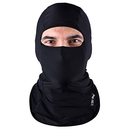 ICOCOPRO Lycra Fabrics Balaclava - Protects from Wind, Sun, Dust Spring Summer Face Mask Helmet Liner Breathable, Sweat-Absorbent,Quick Dring-Black