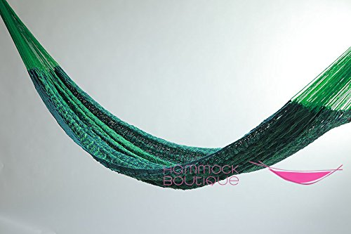 Cotton Thick Cord Mayan Hammock XXL Green and Forest Green