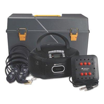 Amplivox SL1070 Personal Six-Station Listening Center, Gray from Amplivox