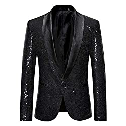 Men's Classic Luxury Sequins Party Blazer
