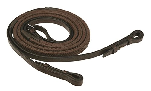 GATSBY LEATHER COMPANY 283231 Rubber Grip Reins Havanna Brown, 5/8