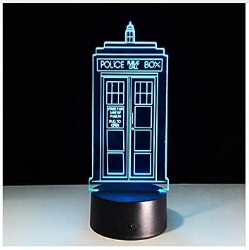 Amazon.com: Lámpara de mesa de 7 colores con luz LED de ...