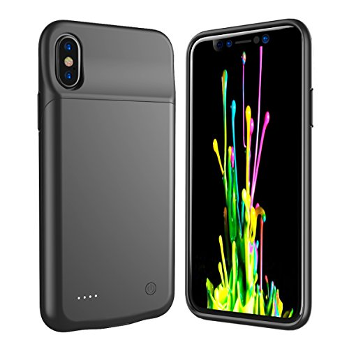 [MFI Certificated] Coque Batterie iPhone X Housse Portable Batterie Externe Ultra-Slim 3200mAh Rechargeable Coque de Batterie pour iPhone 10 Etui Chargeur de Protection Built-in Batterie Power Case