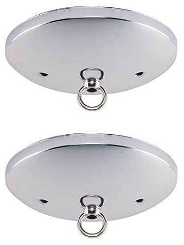Westinghouse 7003300 Brushed Nickel Finish Ceiling Canopy Kit (2 Pack)
