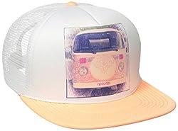 Rip Curl Juniors Caravan Trucket Hat, Peach, One Size