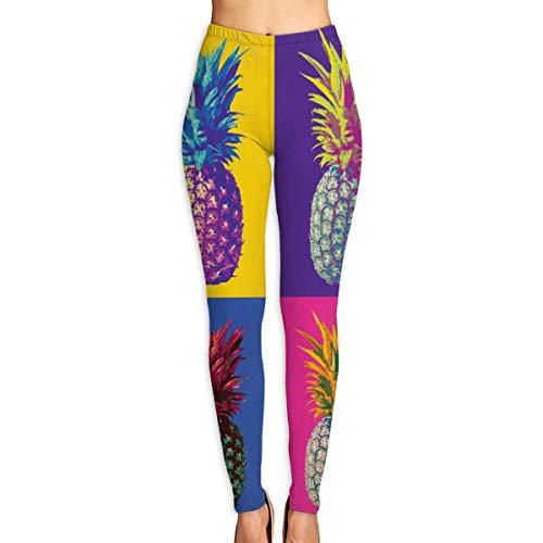 Yuotry Yoga Pants Flower Skull Queen Women Power Yoga Pants Workout Yoga Capris Pants Leggings White