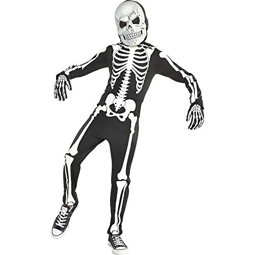 Glow in the Dark Skeleton Halloween Costume for Boys, Medium, with Included Accessories, by Amscan]()