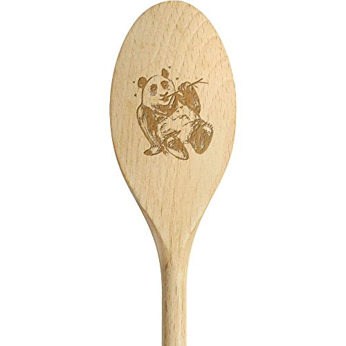 300mm 'Panda con Bambú' Cuchara de madera (SN00026861)