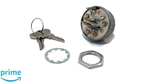 IGNITION SWITCH w// Keys fits John Deere 1200 1200A Bunker Rakes 800 V40 Aerators