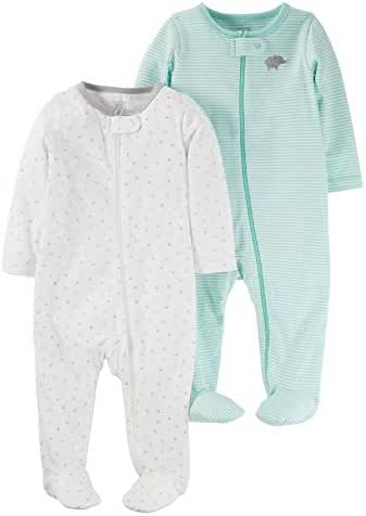 Carter's Just One You 2 Pack Baby Unisex Sleep N' Play Set -Cool Mint