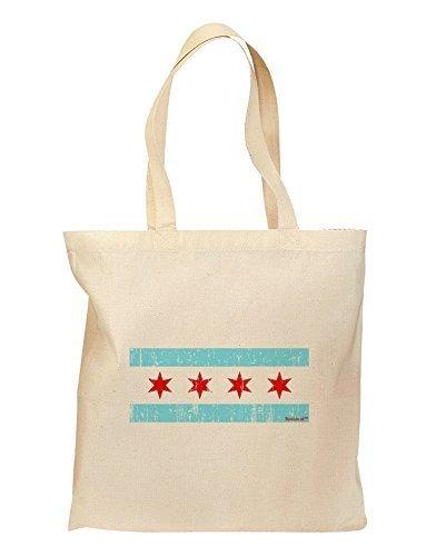 Chicago Grocery borsa Shopper Motivo Bandiera Naturale Di Colore Tooloud Invecchiato Tooloud 5FwqtERR